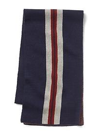 Jacquard stripes scarf