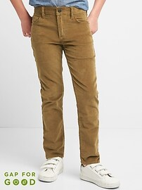Slim Cord Jeans in High Stretch