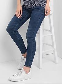 Maternity full panel true skinny jeans