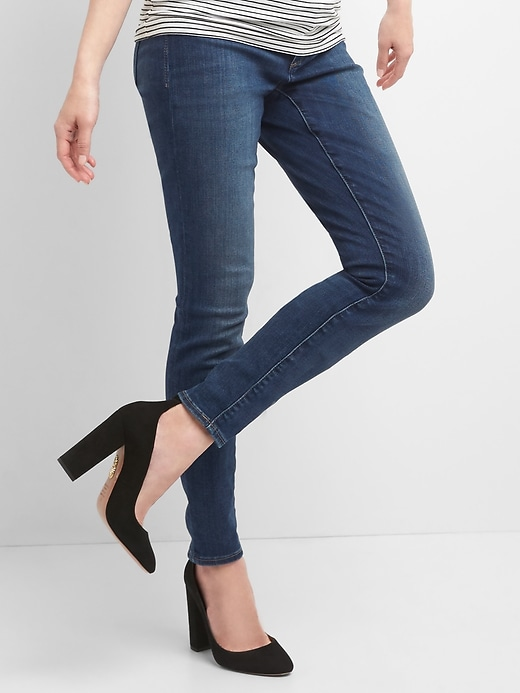 Maternity Inset Panel True Skinny Jeans by Gap