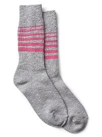 Stripe boot socks