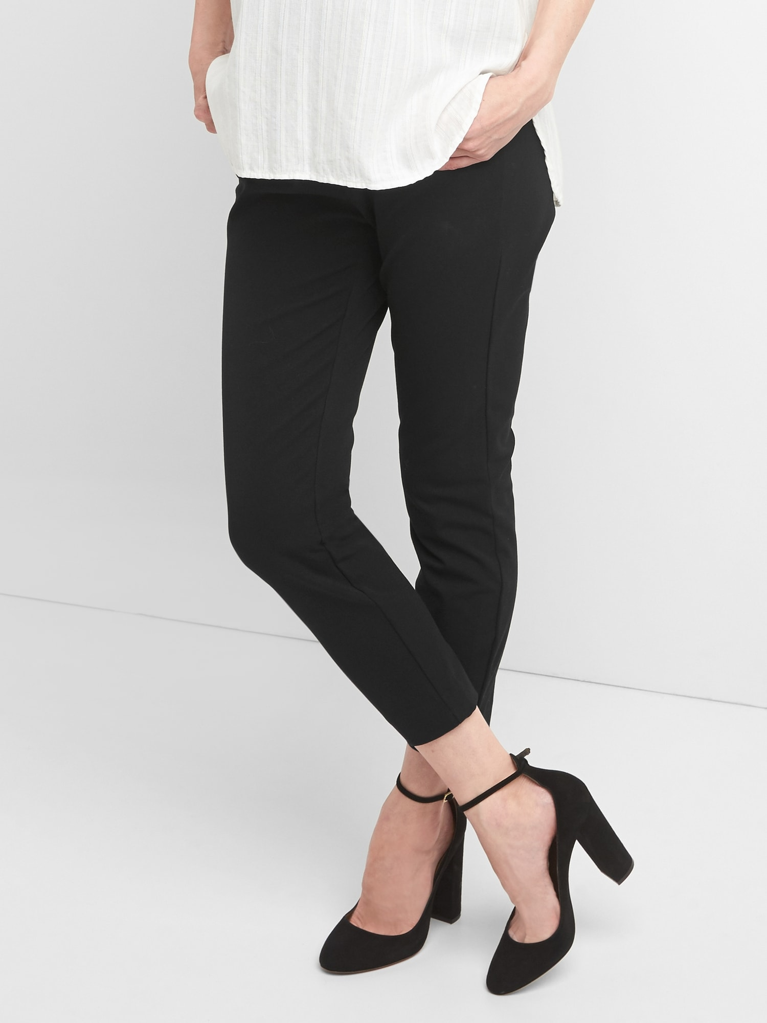 8513368323a83 Maternity Full Panel Skinny Pants with Bi-Stretch | Gap
