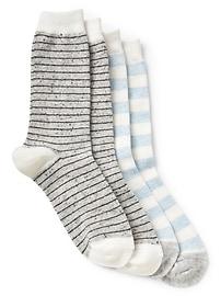 Chaussettes d'hiver à rayures (2paires)