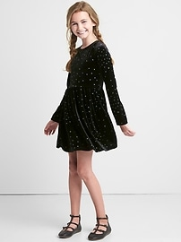 Starry velvet keyhole dress