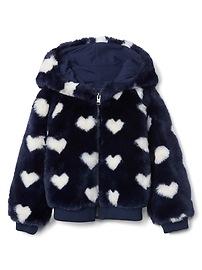 Cozy heart zip hoodie