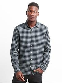 Chemise oxford à carreaux, coupe standard