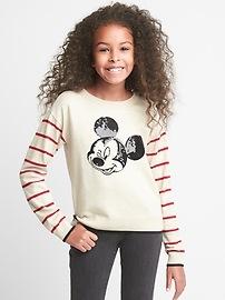 Pull ras du cou GapKids à paillettes et à motif Mickey Mouse de Disney
