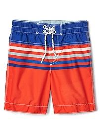Stripe colorblock board shorts