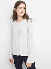 Softspun bell-sleeve top