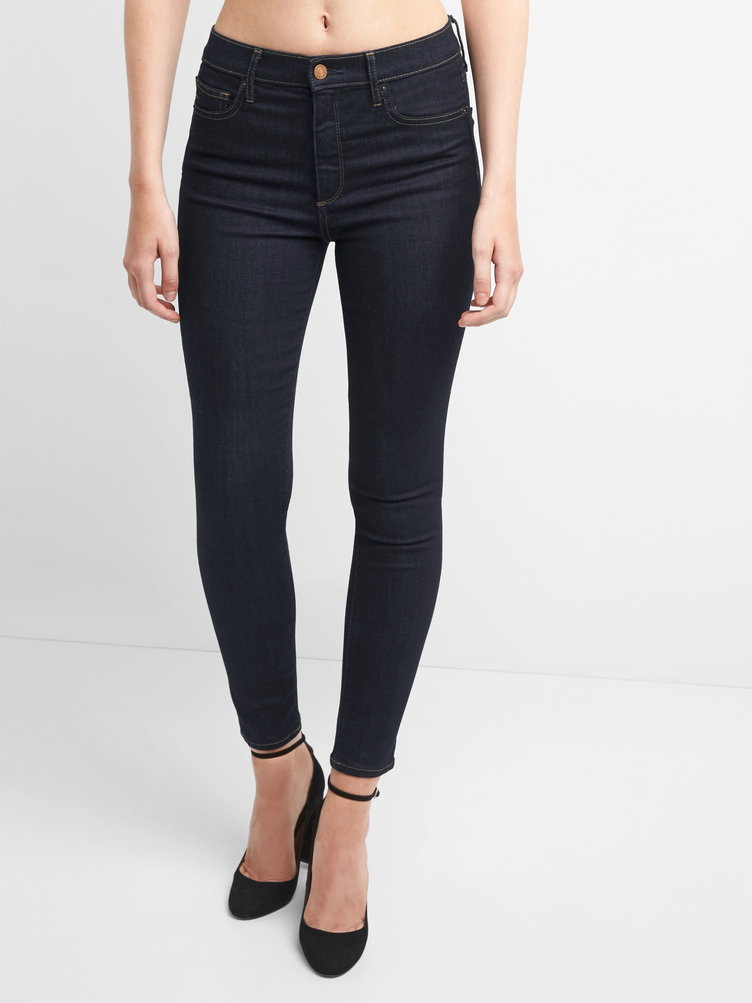 Gap rise high skinny jeans exclusive photo