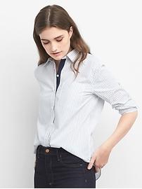 Chemise coupe boyfriend à rayures
