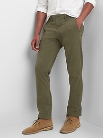 Color Vintage Wash Khakis in Slim Fit with GapFlex