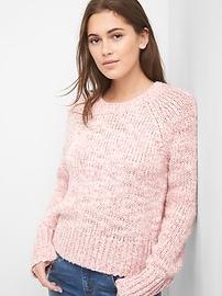 Chunky raglan crewneck sweater