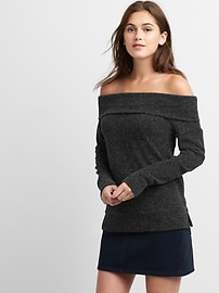 Softspun off-the-shoulder sweater