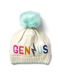 Genius pom-pom beanie