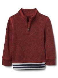 Half-zip sweater fleece jacket