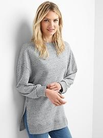Hi-lo fleece sweatshirt