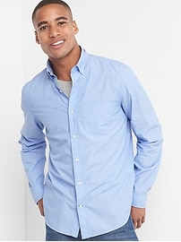 True wash poplin button-down standard fit shirt