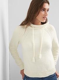 Chenille tassel pullover hoodie