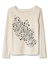 Embellished graphic boatneck tee