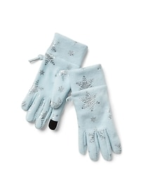 Pro Fleece print smartphone gloves