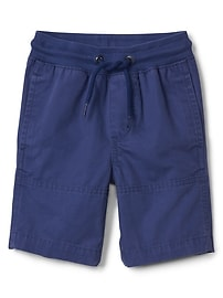 Canvas pull-on shorts