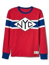 T-shirt de hockey à manches longues en fil flammé