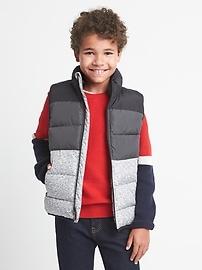 Ecopuffer down colorblock vest