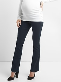Maternity inset panel baby boot jeans