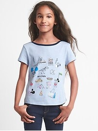 GapKids &#124 Disney Minnie Mouse sequin boatneck tee