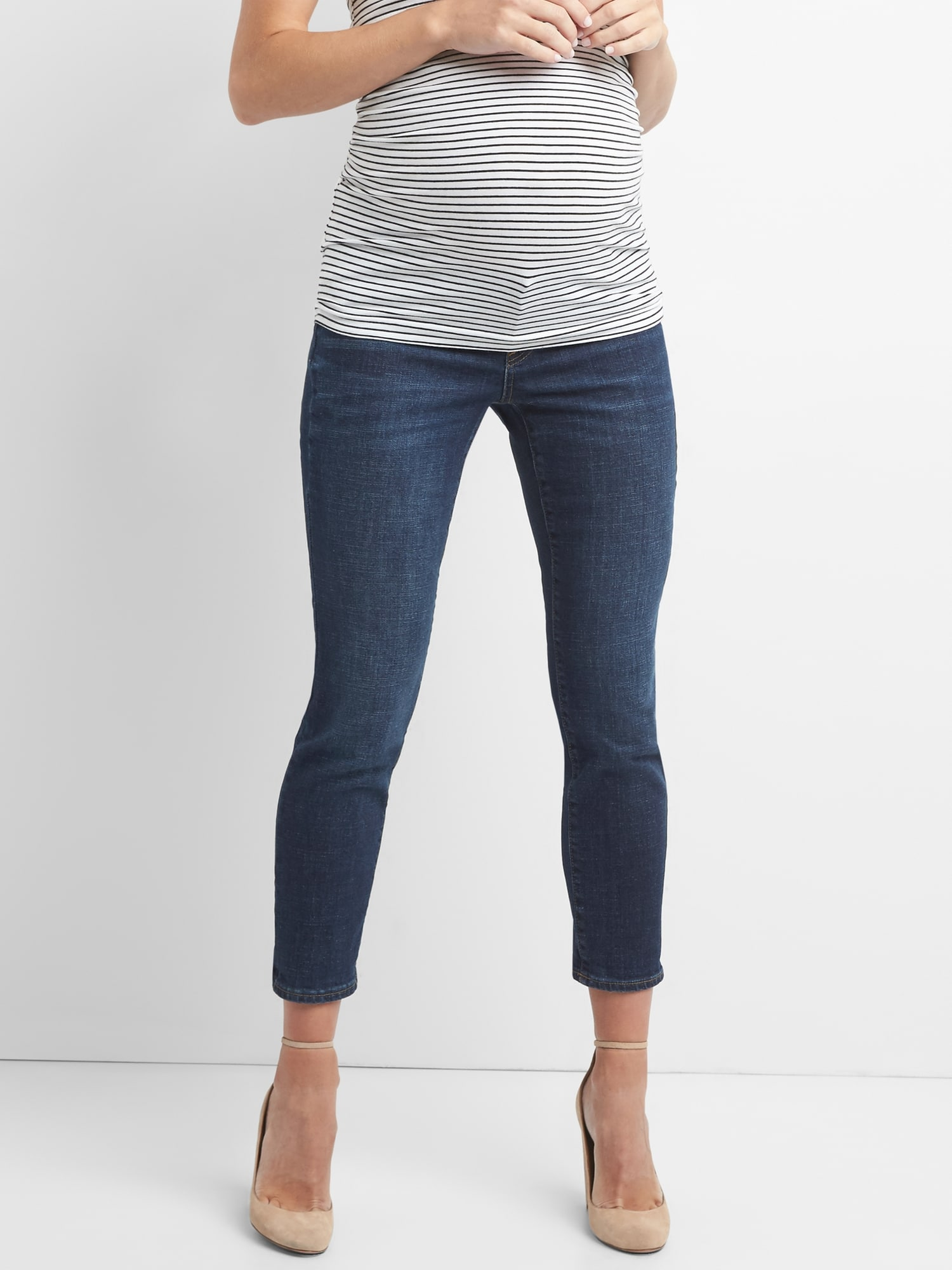 7fbcd2412474d Maternity Inset Panel Best Girlfriend Jeans | Gap
