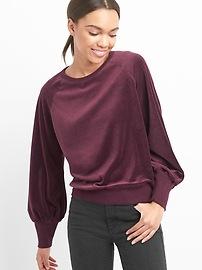 Velour raglan pullover