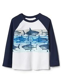 Shark stripe raglan rashguard