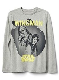 T-shirt à manches longues à imprimé Star Wars de Gap