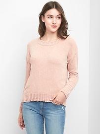 Chenille crewneck sweater