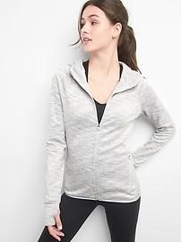 GapFit Orbital reflective fleece zip-up hoodie
