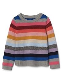 Crazy stripe crew sweater