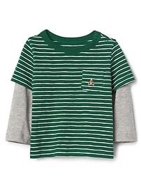 T-shirt à poche 2 en 1