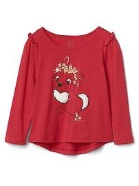 Chemise argentée à volants babyGap Disney Baby