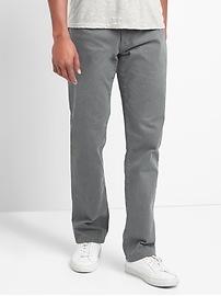 Pantalon coupe droite en sergé extensible