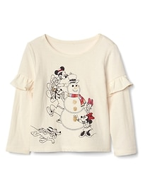 T-shirt à volants en tricot double babyGap Disney Baby