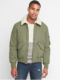 Sherpa collar flight jacket