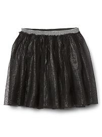 Shimmer tulle flippy skirt