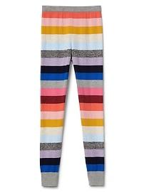 Crazy stripe sweater leggings
