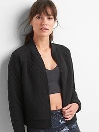 GapFit jacquard bomber jacket