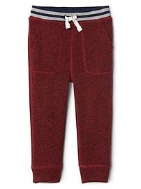 Sweater fleece pull-on pants