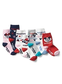 babyGap &#124 Disney Baby Mickey Mouse and Minnie Mouse days-of-the-week socks (7-pack)