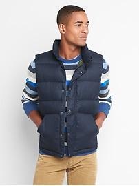 Houndstooth puffer vest