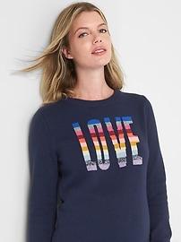 Maternity crazy stripe sweater tunic
