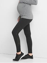 Maternity GapFit Blackout Technology gFast full panel mesh-side leggings